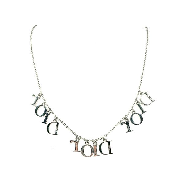 Vintage Dior Spell Out Necklace
