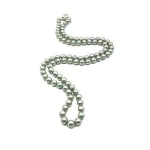 Vintage Grey Pearl Rope Necklace