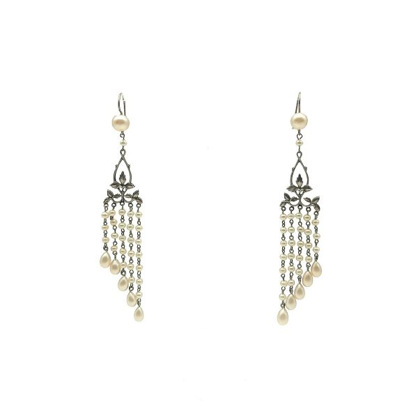 Antique Pearl Droplet Earrings