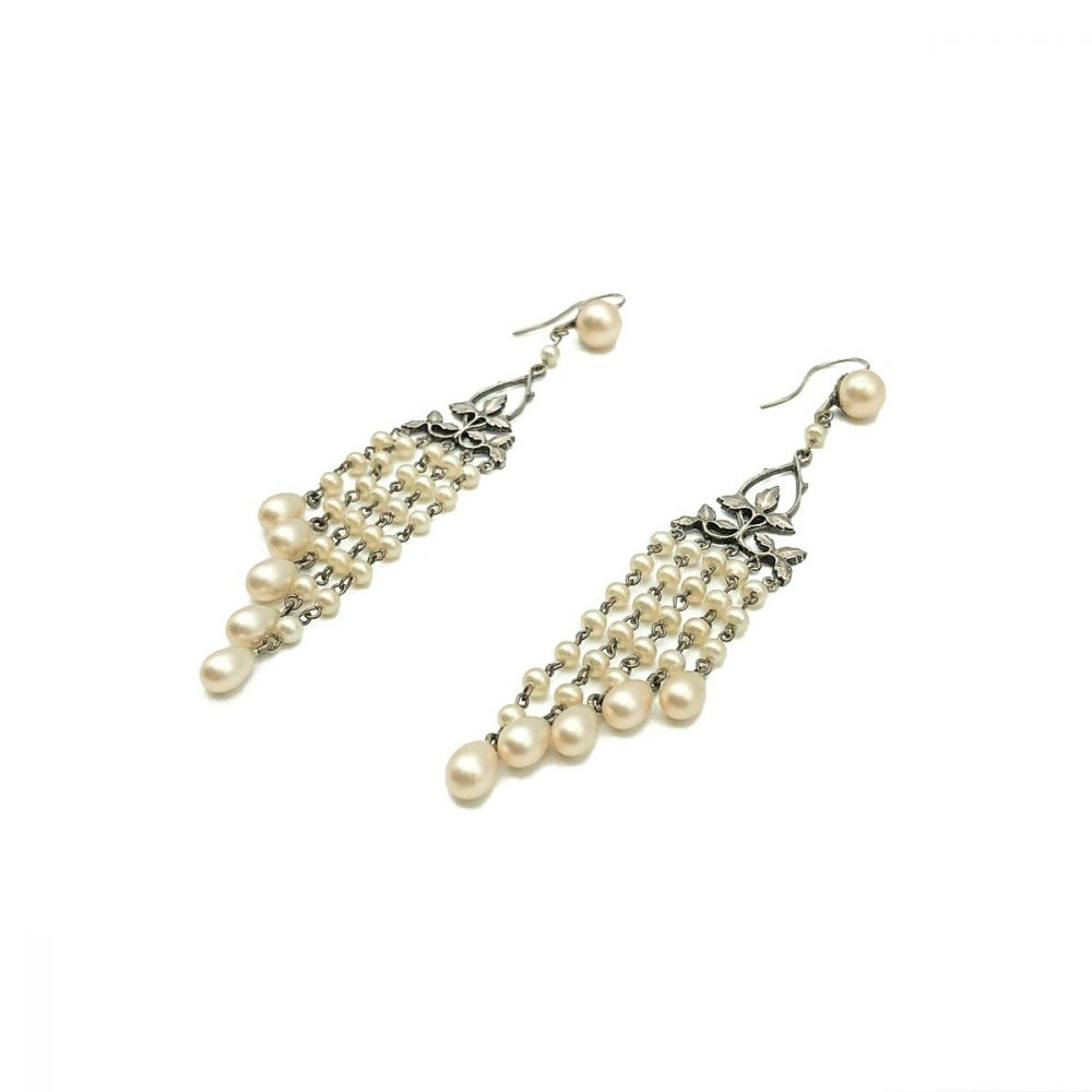 Antique Pearl Droplet Earrings