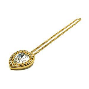 Vintage Dior Crystal Heart Necklace