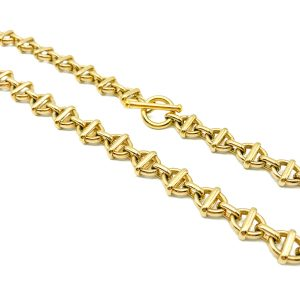 Vintage Monet Gold O Link Chain