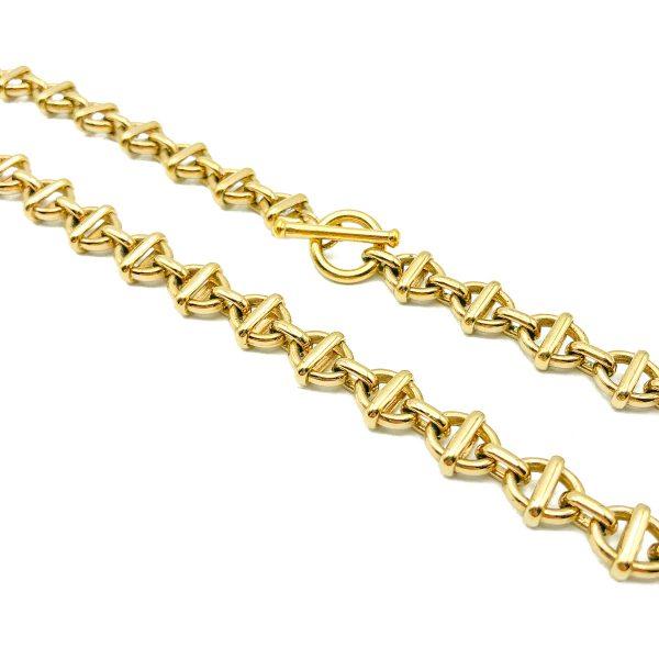 Vintage Monet Gold O Link Chain