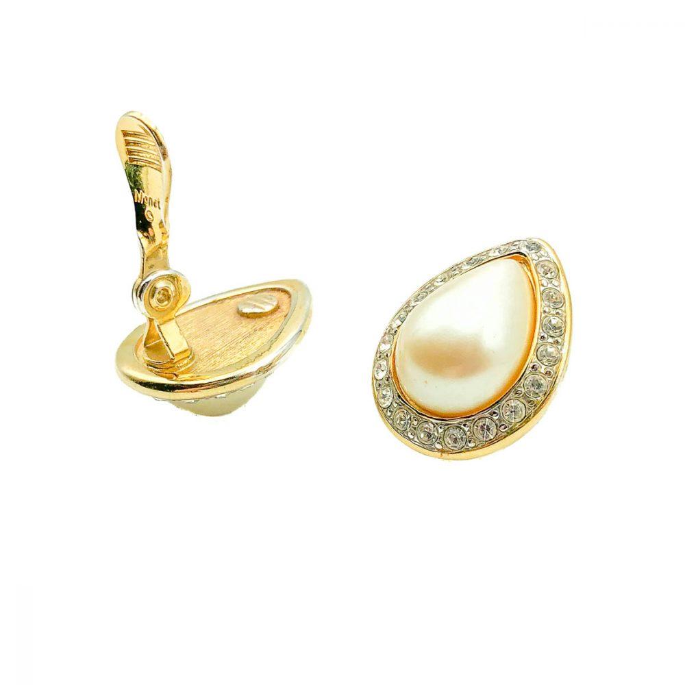 Vintage Monet Pearl Teardrop Earring