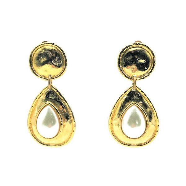 Vintage Edouard Rambaud Pearl Earrings