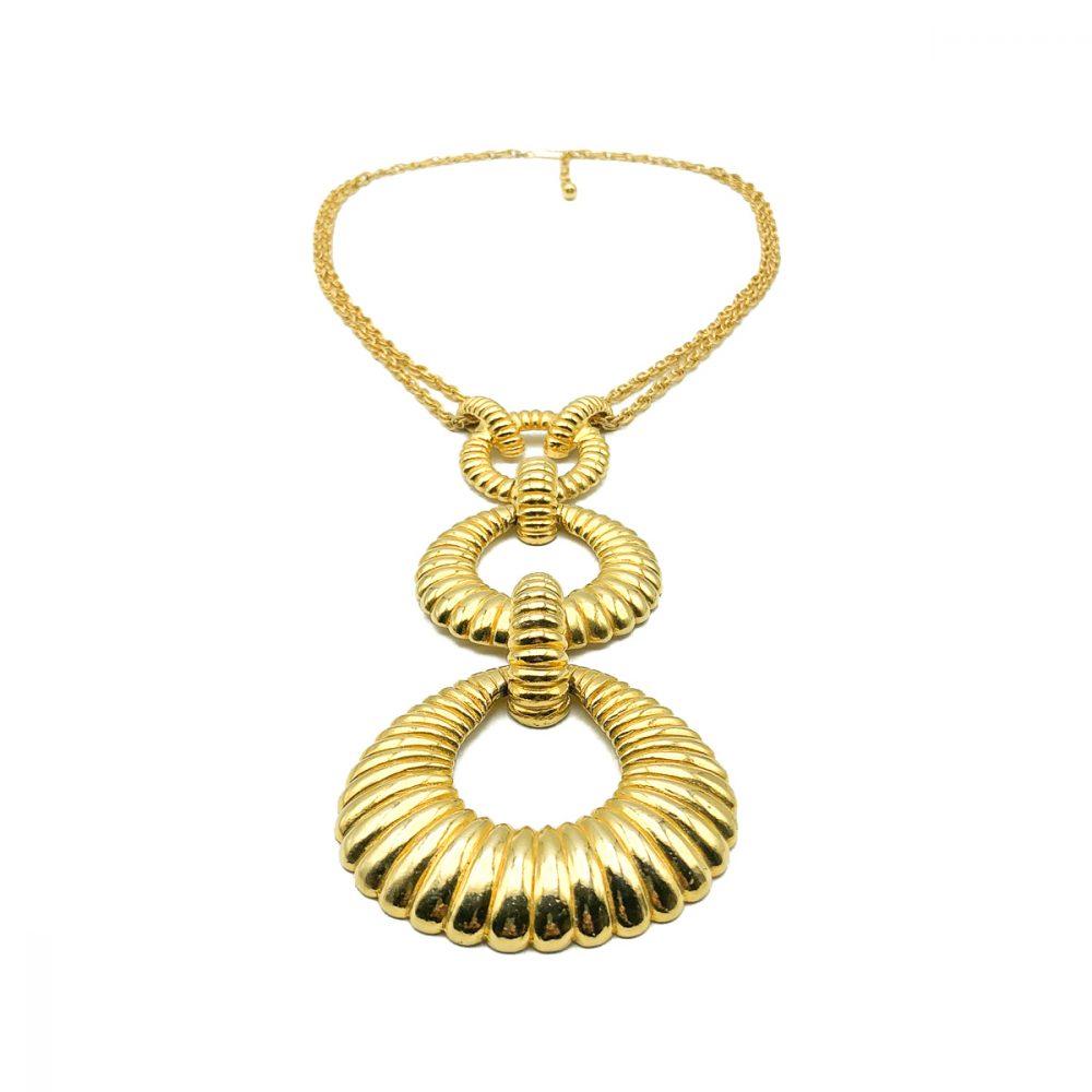 Vintage Triple Hoop Sautoir Necklace