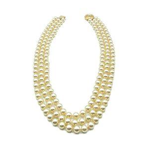 Vintage Triple Pearl Necklace