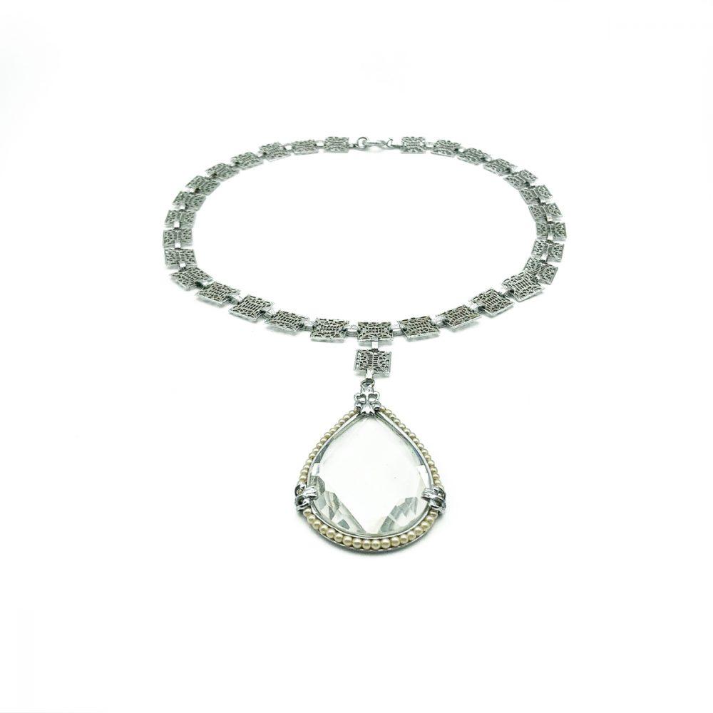 Deco Crystal Pearl Sautoir