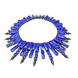 Petrol Blue Glass Collar