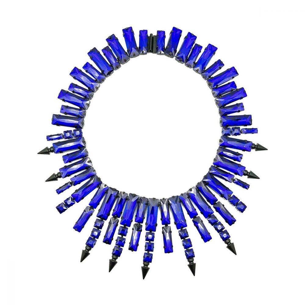 Petrol Blue Glass Collar