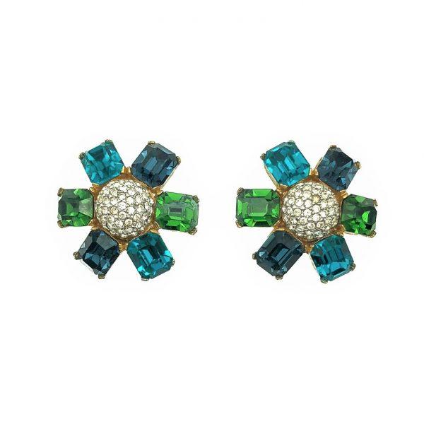 Vintage Ciner Flower Earrings