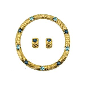 Vintage Dior Blue Crystal Collar