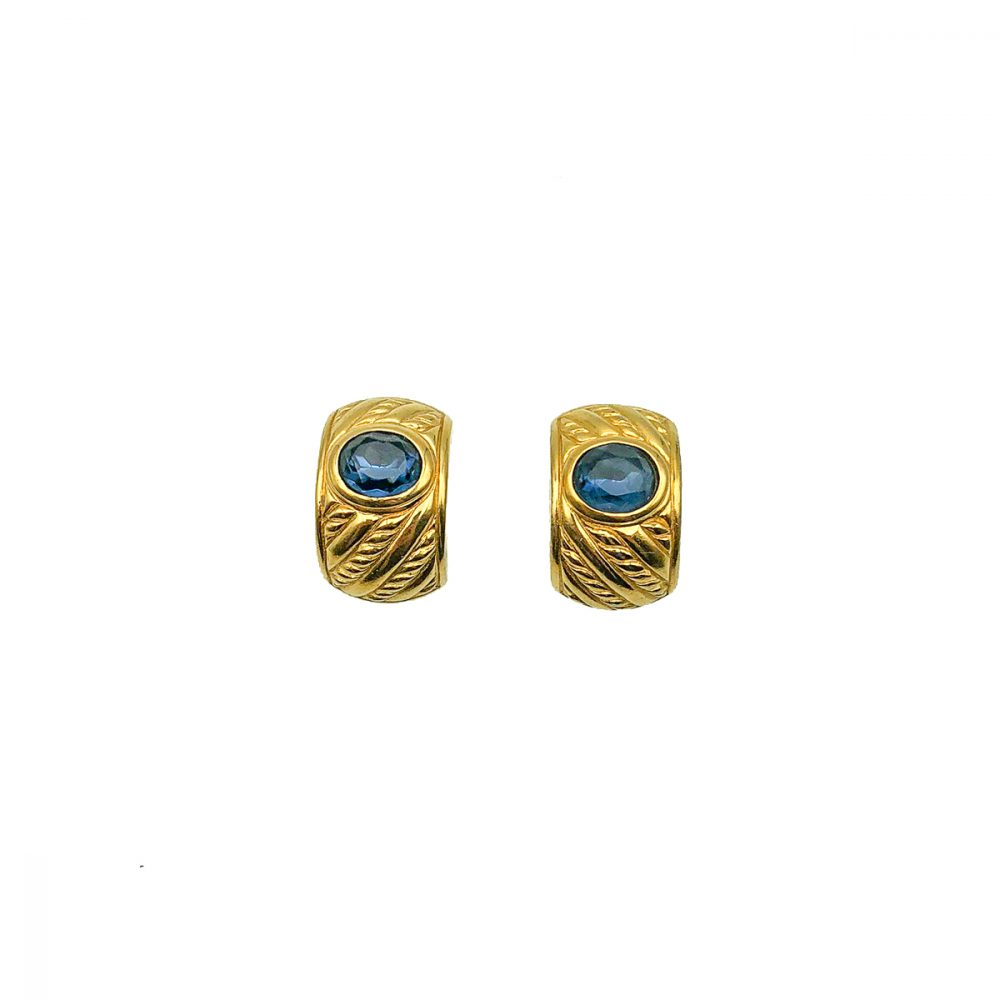 Vintage Dior Blue Crystal Collar