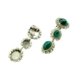 Vintage Dior Emerald Drop Earrings