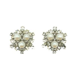 Vintage Dior Pearl Star Earrings
