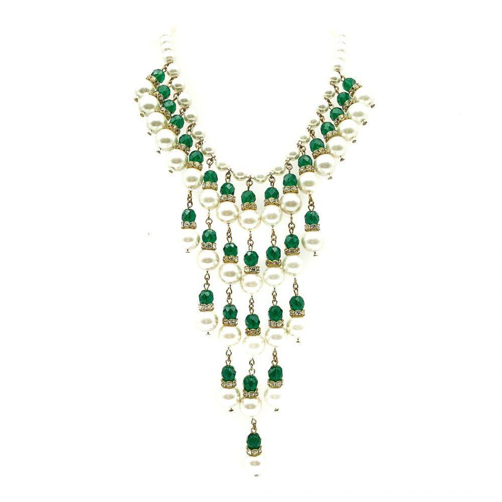 Vintage Cascade Fringe Necklace