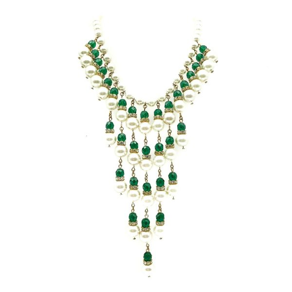 Vintage Cascade Fringe Necklace
