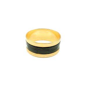 Vintage Grosse Gold Leather Bangle