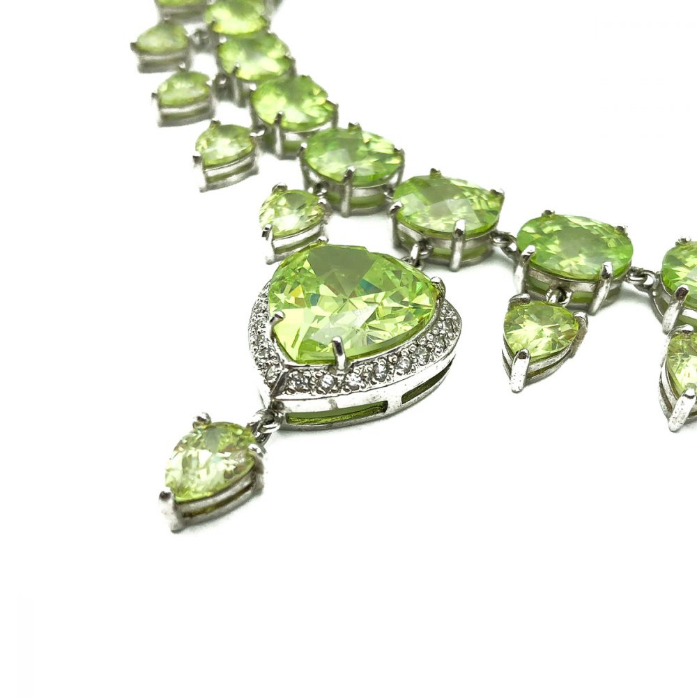 Vintage Peridot Heart Necklace