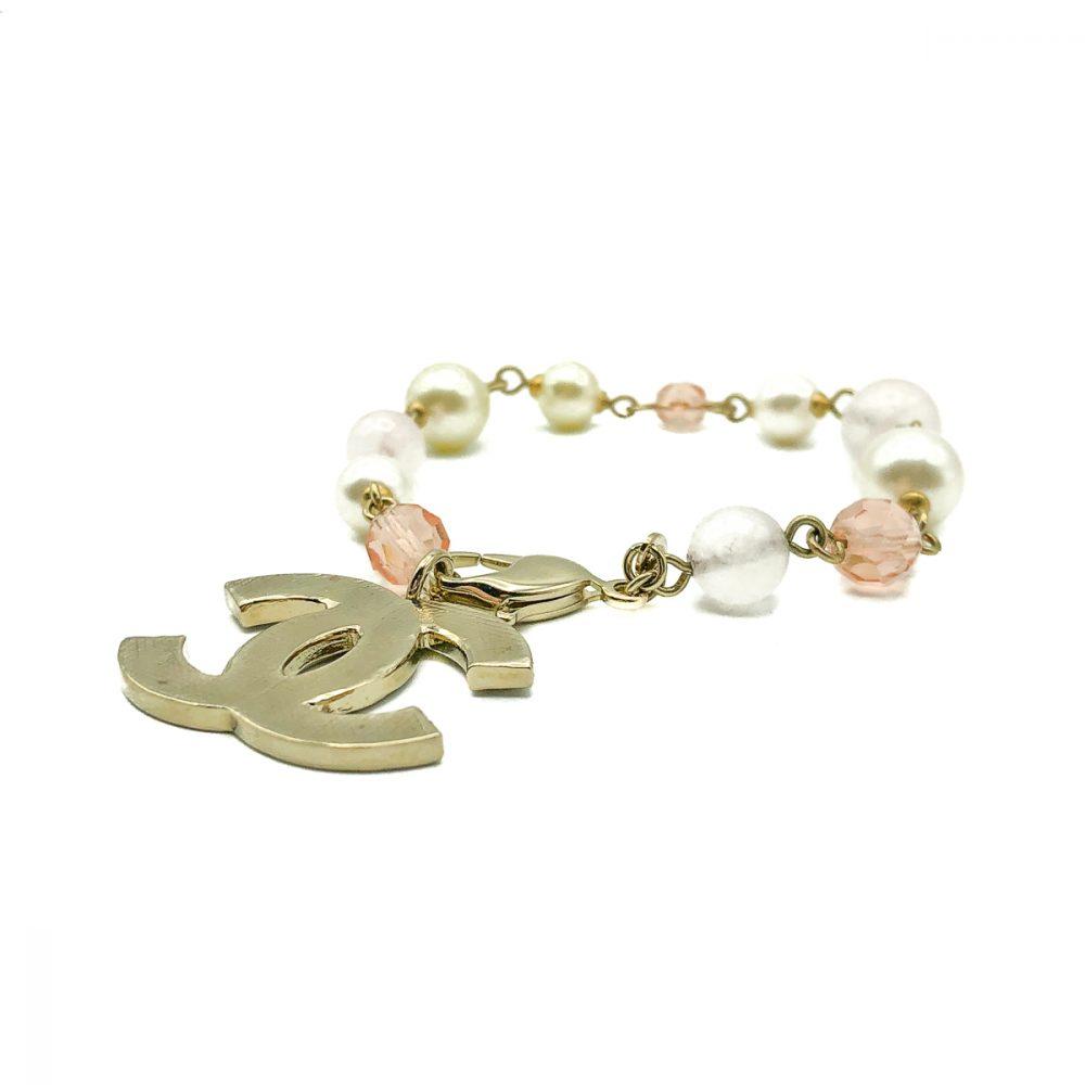 Vintage Chanel Pink Pearl Bracelet