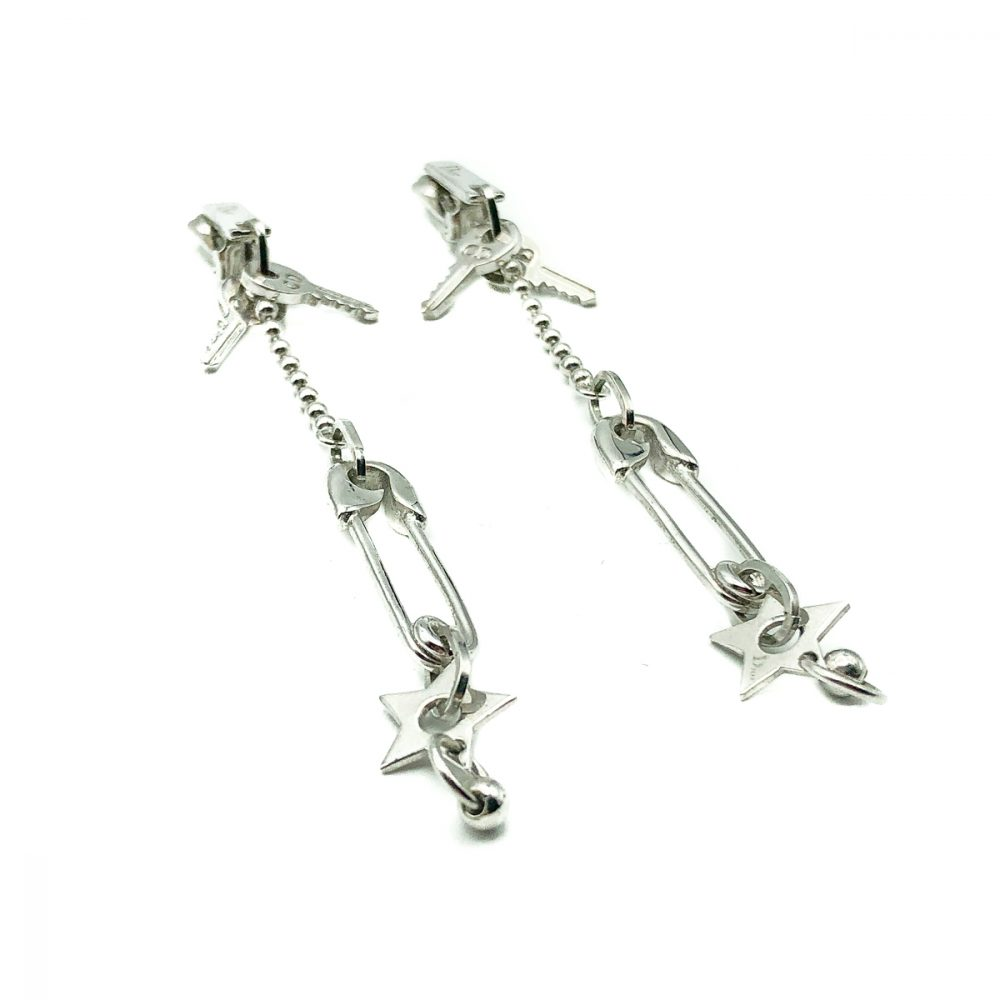 Dior Safety Pin Earrings