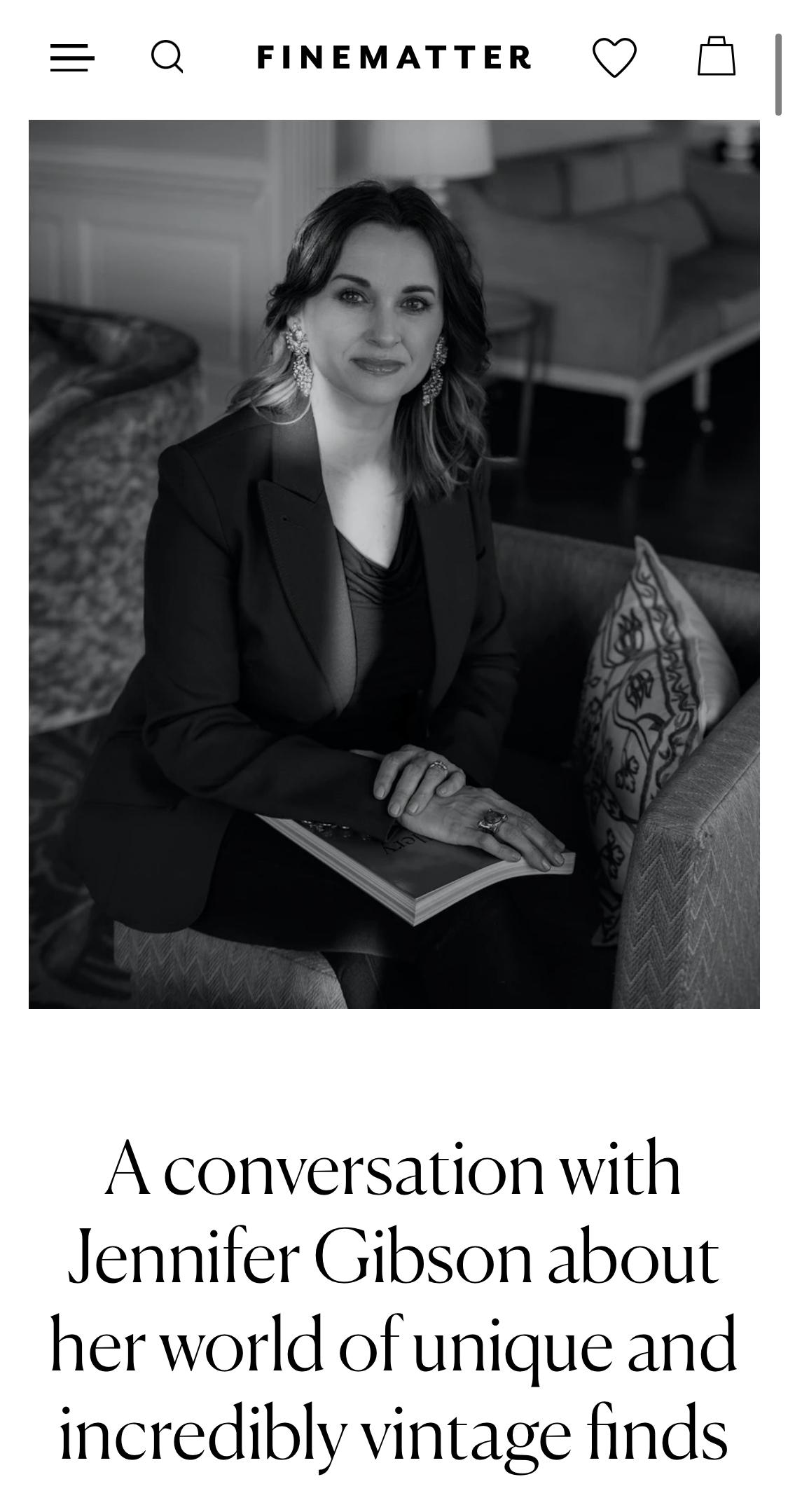 Jennifer Gibson Jewellery Interviewed by Finematter February 2021