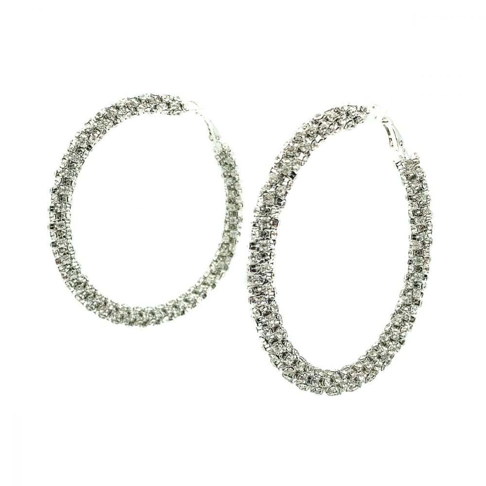 Oversize Crystal Hoop Earrings