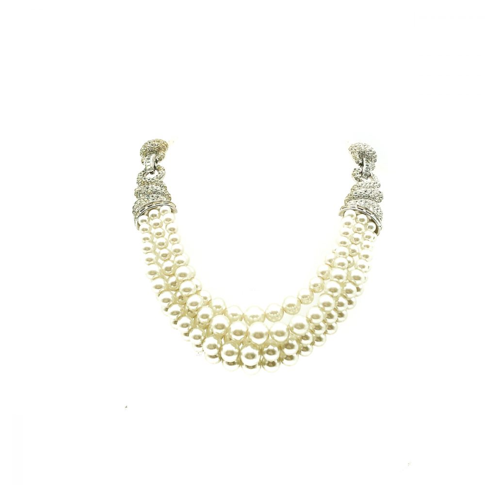 Vintage Boucher Pearl Torsade Necklace
