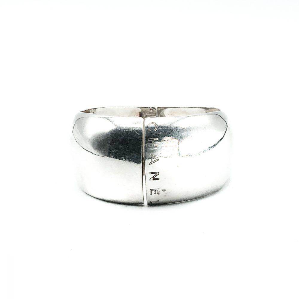 Vintage Chanel Silver Cuff