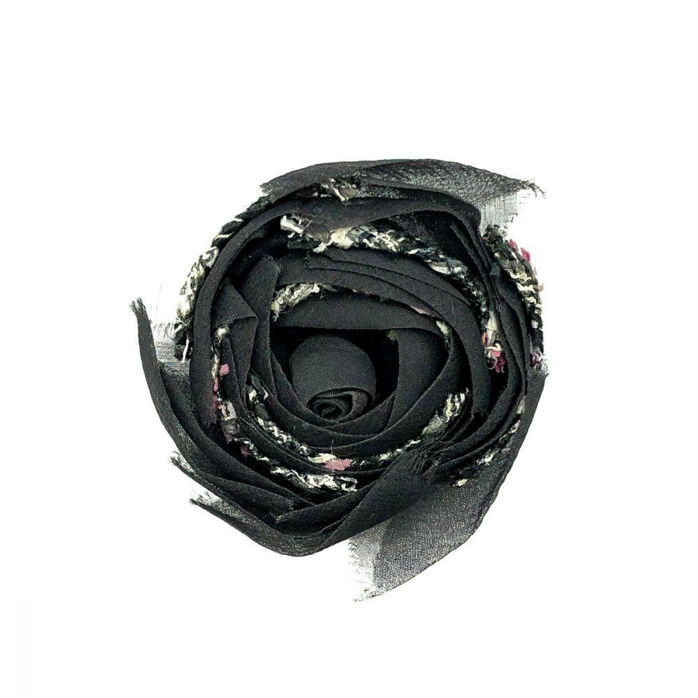 Vintage Chanel Tweed Camellia Corsage
