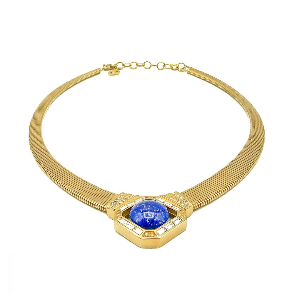 Vintage Dior Lapis Necklace