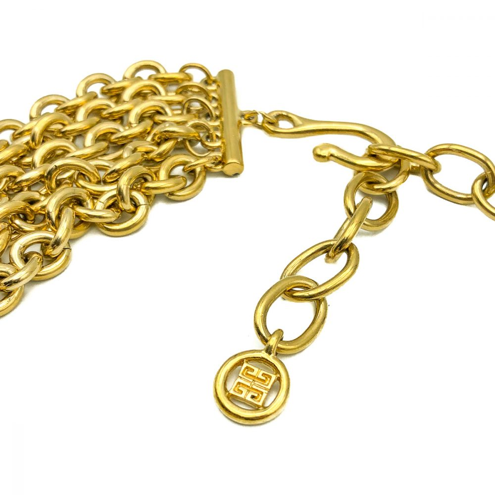 Vintage Givenchy Chain Charm Collar