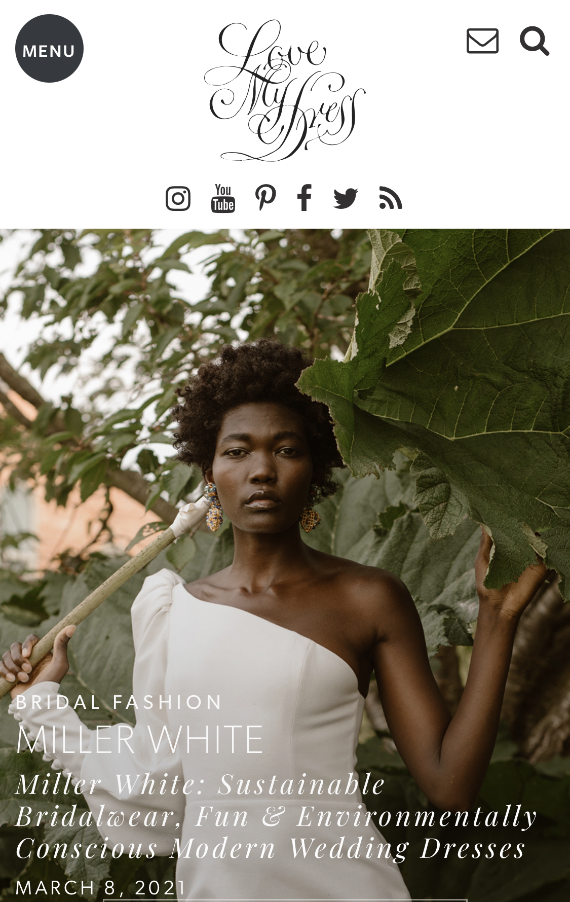 Jennifer Gibson Jewellery for the Miller White Love My Dress Editorial March 2021