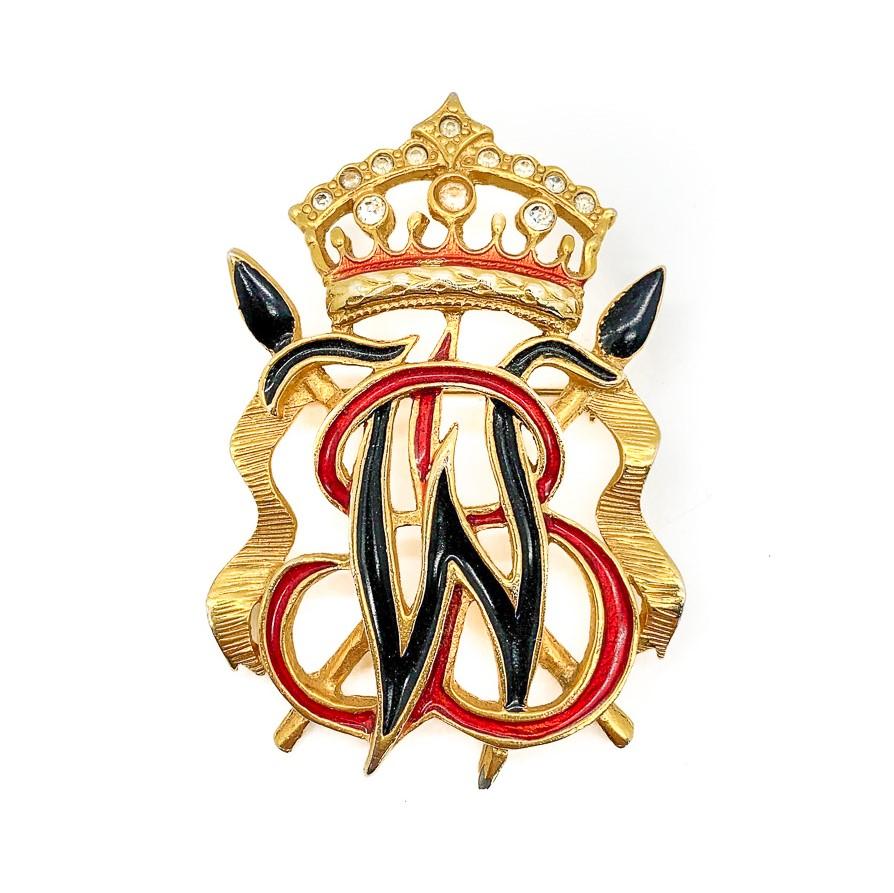 Vintage Butler & Wilson Heraldic Brooch