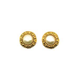 Vintage Chanel Etruscan Pearl Earrings