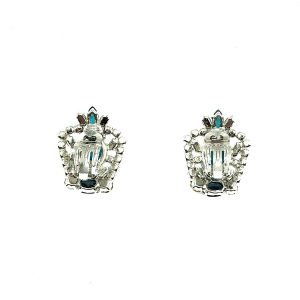 Vintage Dior Aqua Blue Earrings