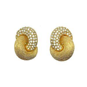 Vintage Dior Crystal Knot Earrings