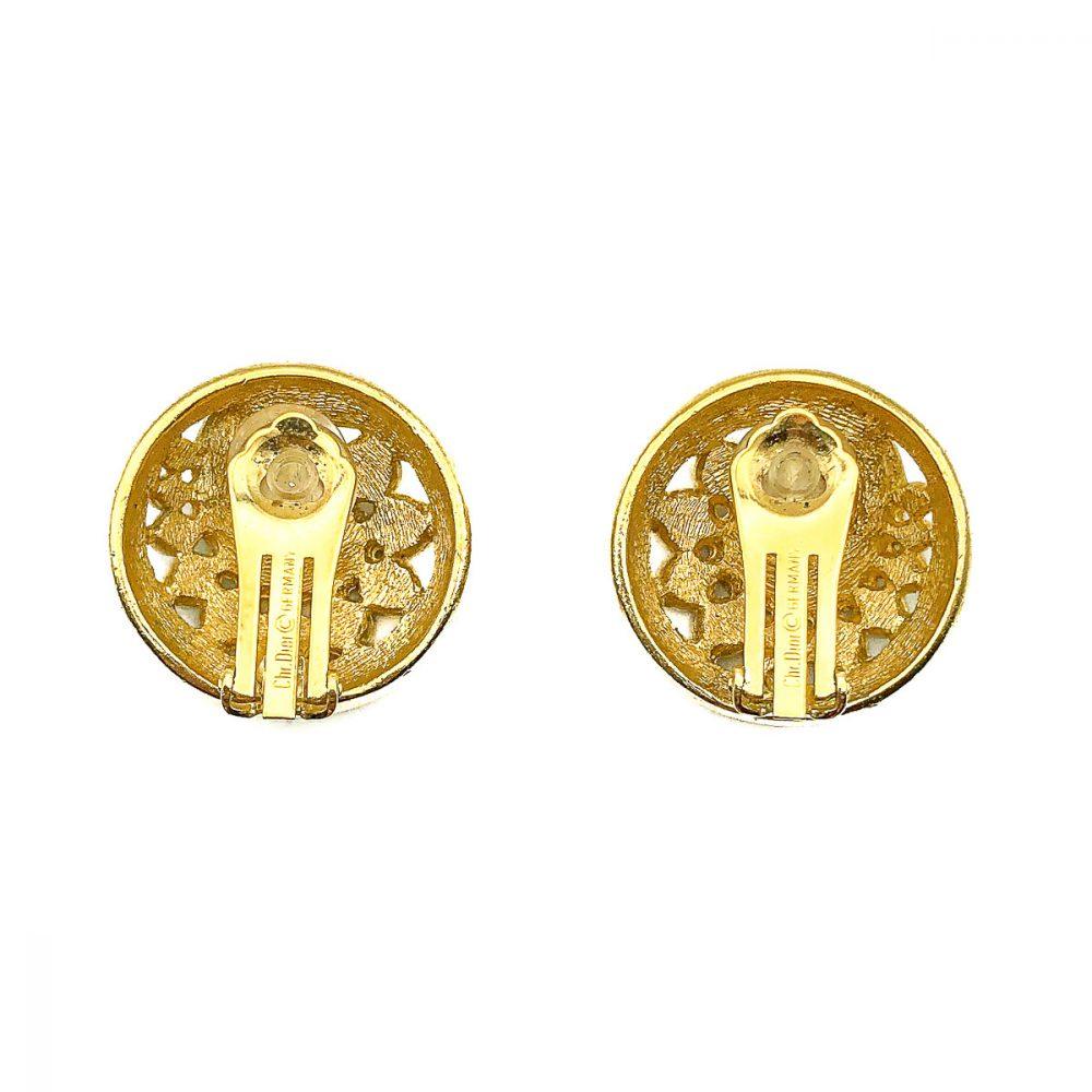 Vintage Dior Crystal Swirl Earrings