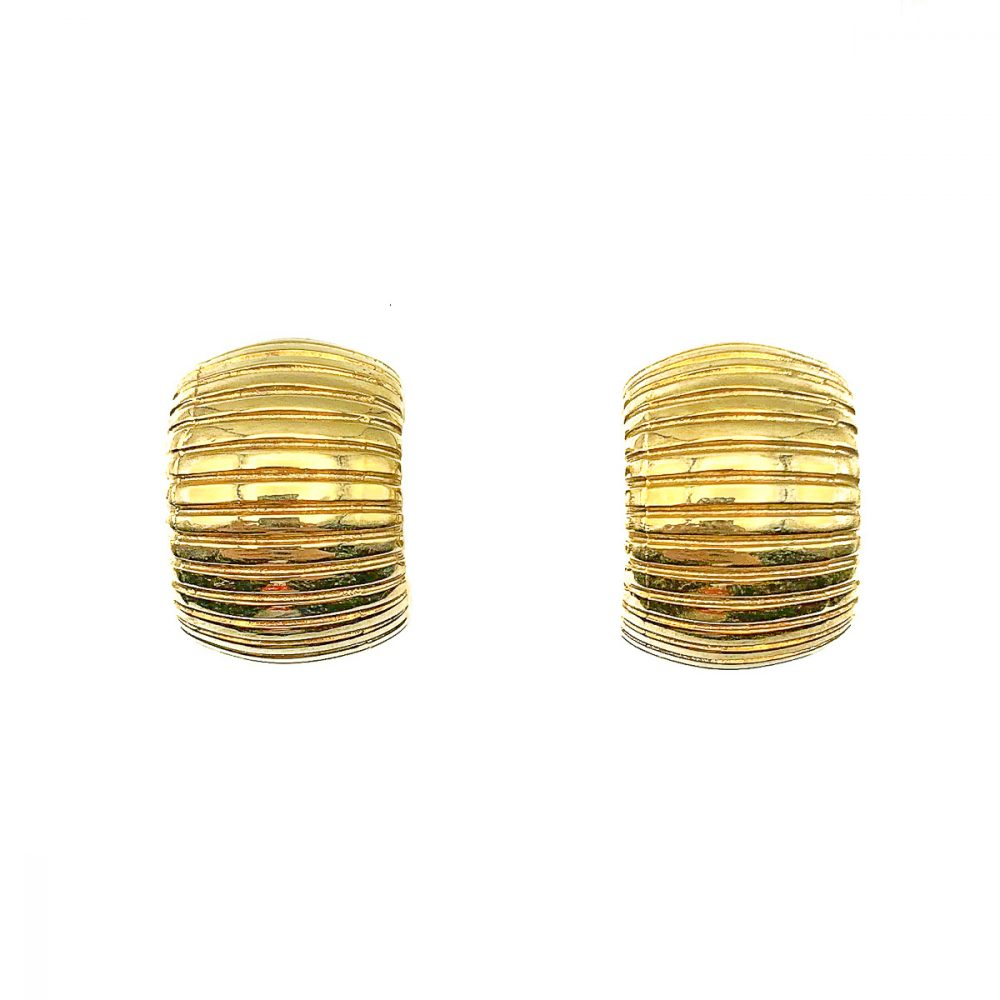 Vintage Dior Huggie Hoop Earrings