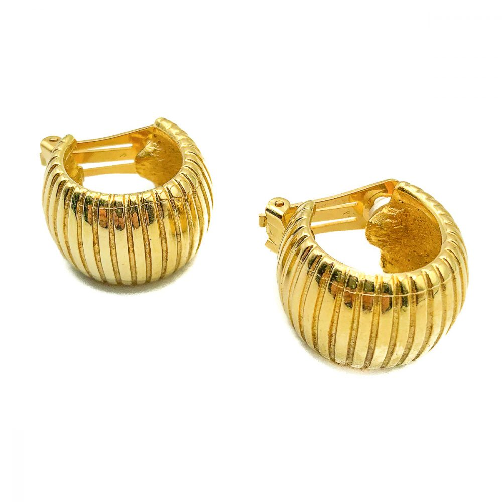 Vintage Dior Huggie Hoop Earrings