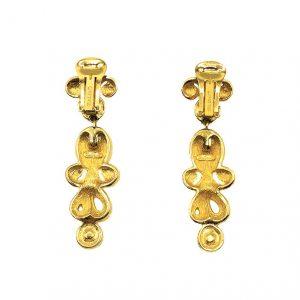 Vintage Dior Pearl Estruscan Earrings