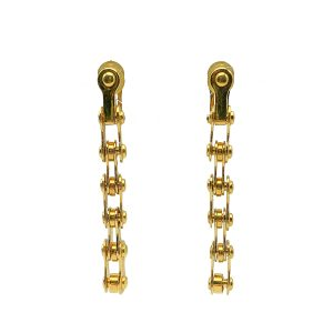 Vintage Dior by Galliano Bike Chain Earrings