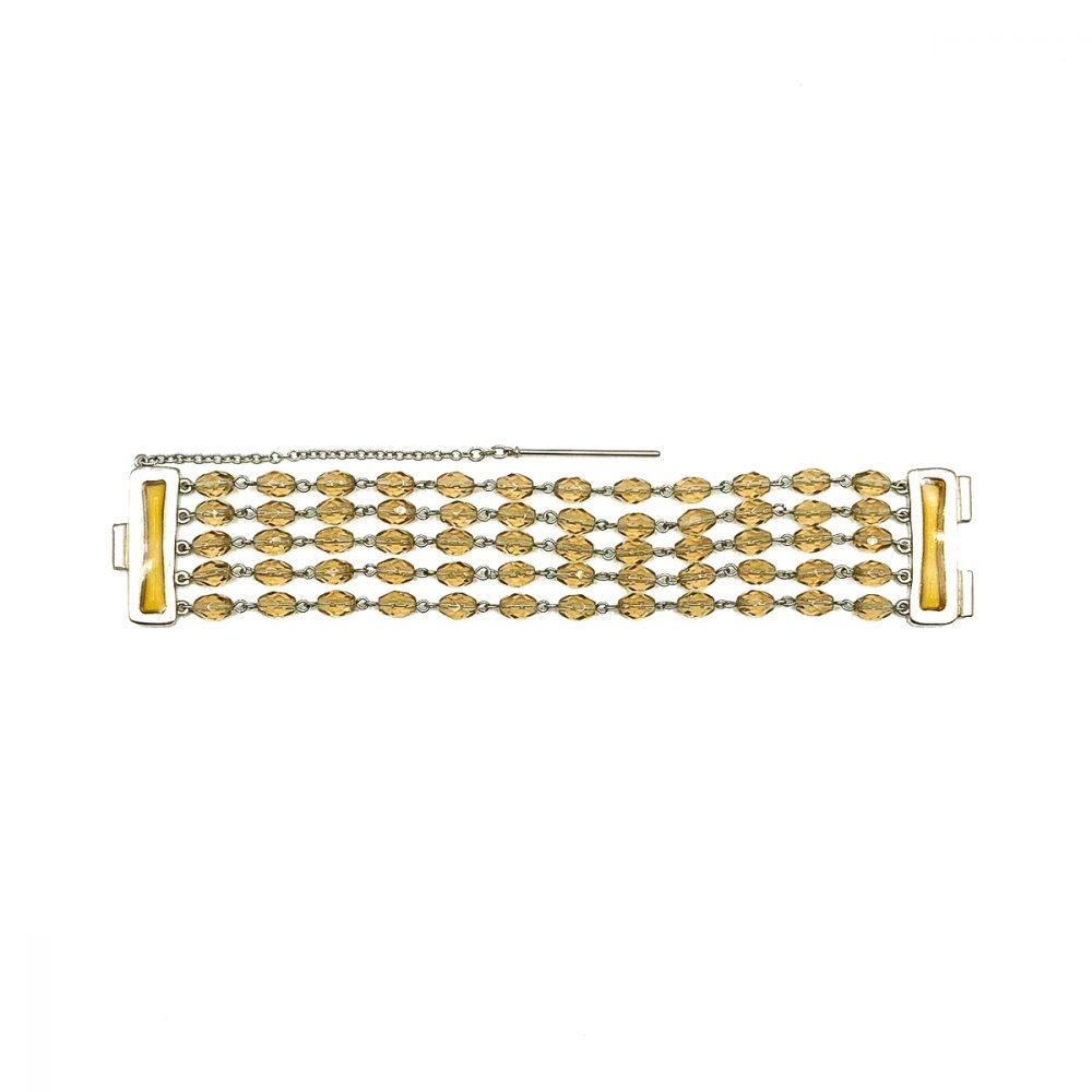 Vintage Givenchy Citrine Glass Bracelet