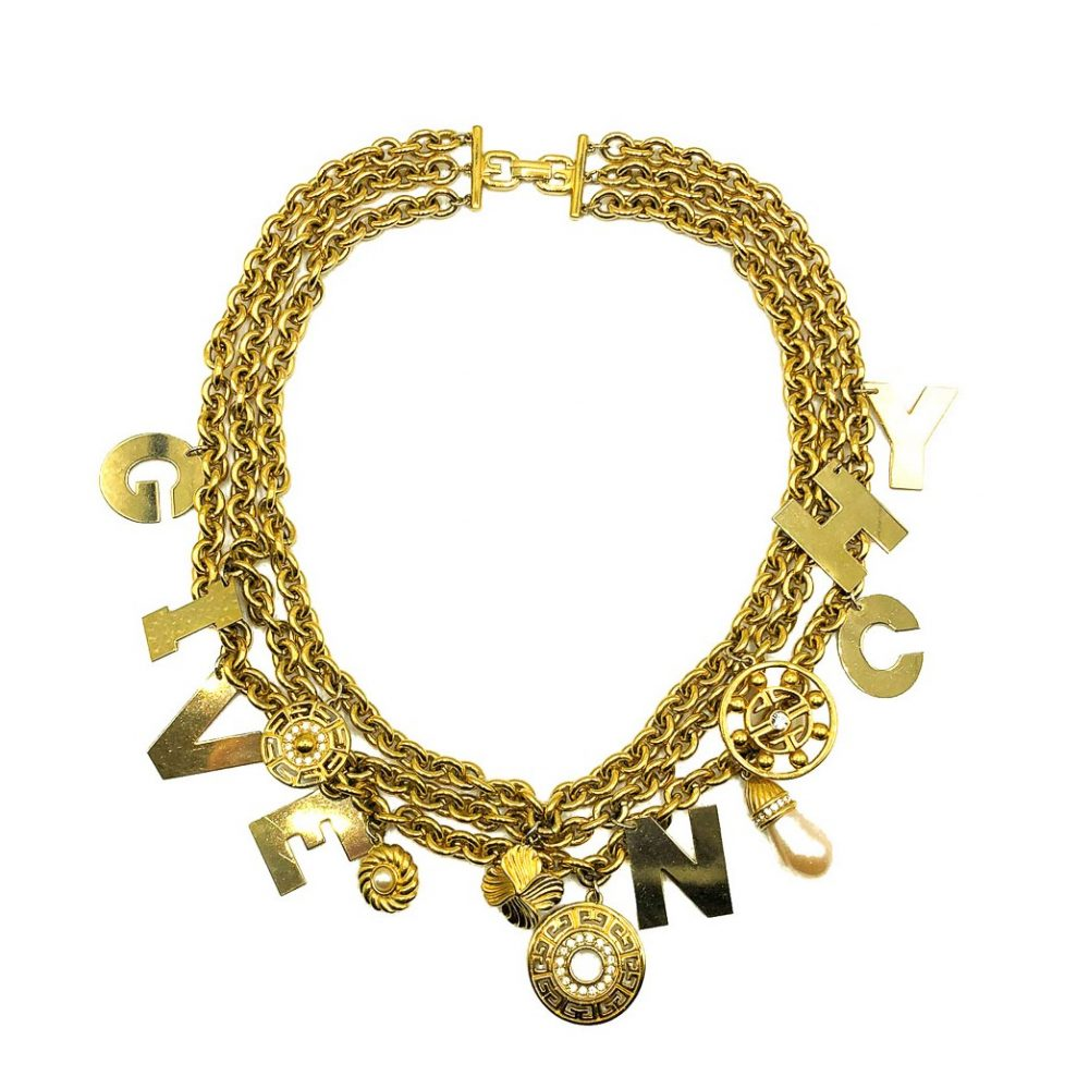 Vintage Givenchy Logo Charm Collar