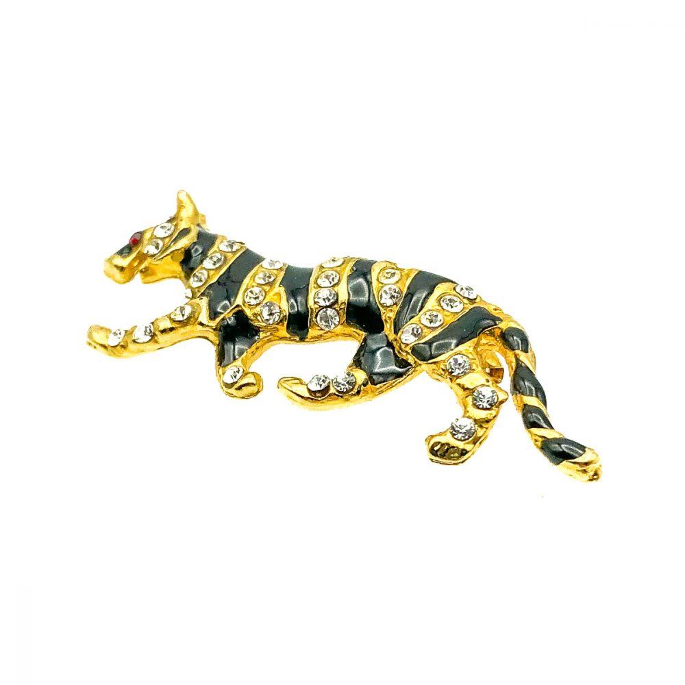 Vintage Tiger Brooch