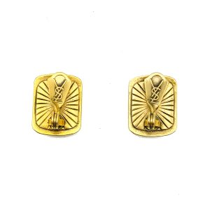 Vintage YSL Poured Glass Earrings