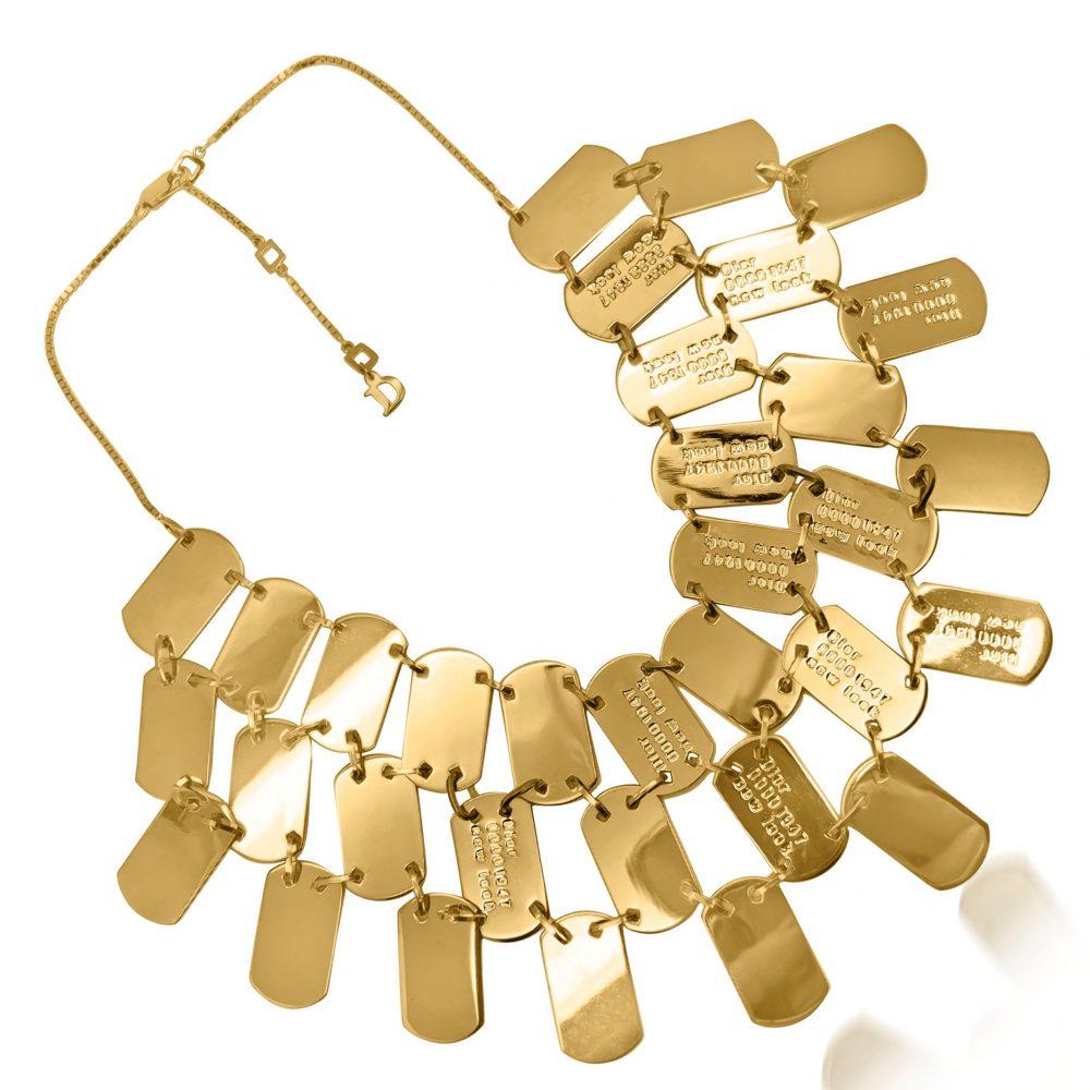 Vintage Dior Logo Bib Necklace