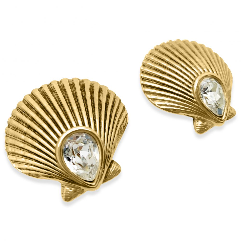 Vintage YSL Shell Earrings