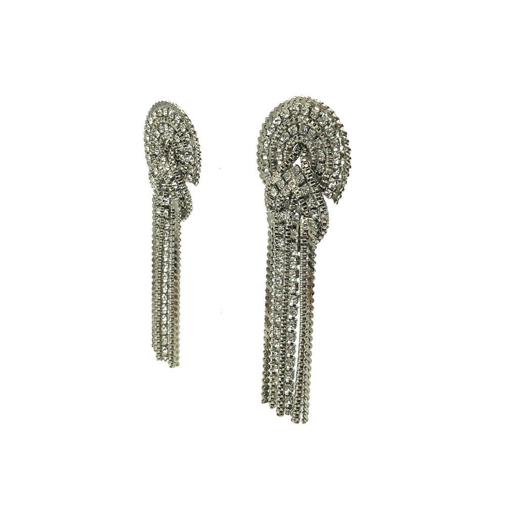 Vintage Butler & Wilson London Crystal Chain Statement Earrings