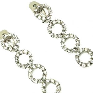 Vintage Ciner Circle Earrings